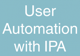 User Automation with IPA