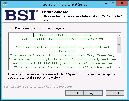 Installing BSI TaxFactory 10 for Your New Lawson 10 Environment-23