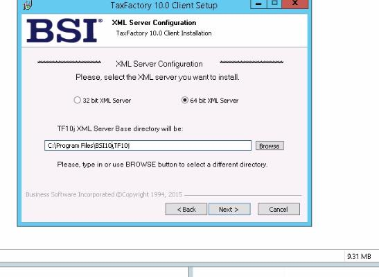 Installing BSI TaxFactory 10 for Your New Lawson 10 Environment-28