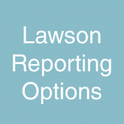 Lawson Reporting