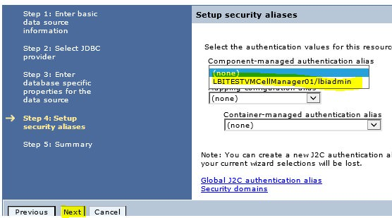 how-to-create-new-datasource-for-lbi-in-websphere-6